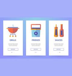 vertical slider banner about picnic vector image vector image