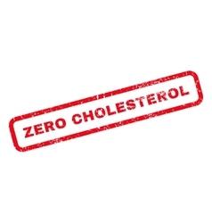 Zero cholesterol rubber stamp vector