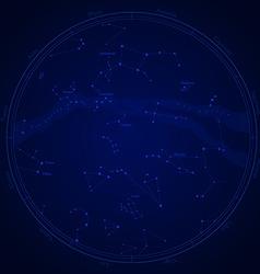 Zodiac star map vector image
