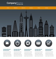City web site design template vector