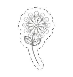 Daisy flower decoration cut line vector