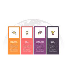 Business infographics presentation with 4 options vector