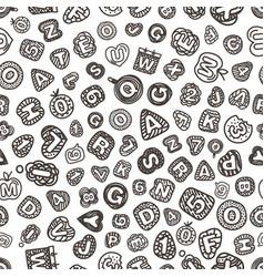 Cartoon style alphabet seamless pattern comic vector