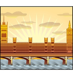 Westminster abbey big ben vector