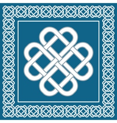 Celtic love knotirish symbol of good fortune vector image