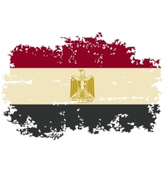 Egyptian grunge flag vector
