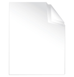 Peaces of white paper vector