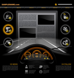 Automobile service website template vector