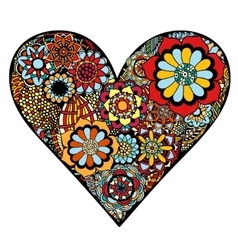 Heart of flower vector