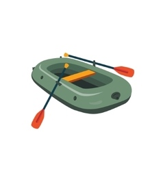 Inflatable boat with peddles vector