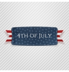 Fourth of july national tag vector
