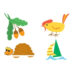 Set of small pictures of nature vector