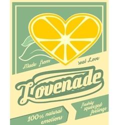 Colorful vintage lemonade label poster vector