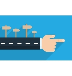 Finger pointing direction vector