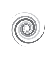 Abstract geometric spirals icon simple style vector