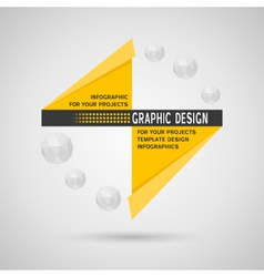 Abstract infographic with geometric elements vector image vector image