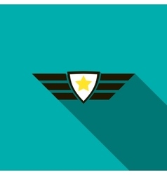 Army emblem icon flat style vector image