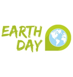 Earth day icon with blue planet vector image vector image