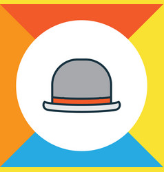 fedora colorful outline symbol premium quality vector image vector image