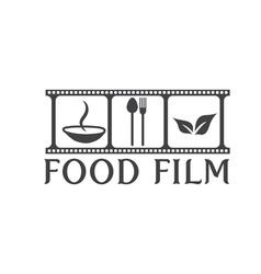 Food film concept design template vector