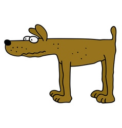 Funny yellow dog vector