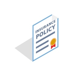 Insurance policy icon isometric 3d style vector