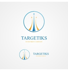 Logo combination of a arrows and circle vector image