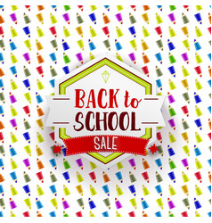 retro back to school sale banner vector image vector image