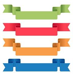 ribbon tag set vector image vector image
