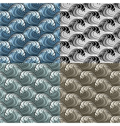 Seamless wavy pattern vector image vector image