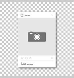Social network photo frame vector