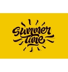 Summer time lettering logo vector image vector image