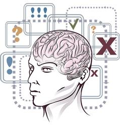 Thinking process vector image vector image