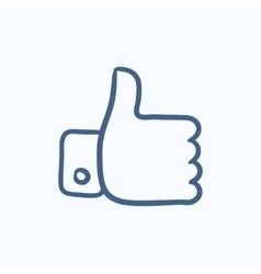 Thumb up sketch icon vector image