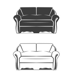 two comfortable sofa vector image vector image