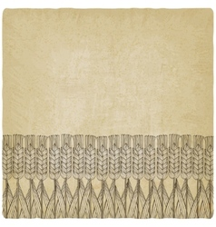 Wheat harvest old background vector