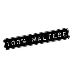 100 percent maltese rubber stamp vector
