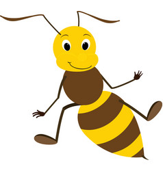 A friendly cute bee vector