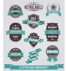 Set of vintage retro labels calligraphic elements vector