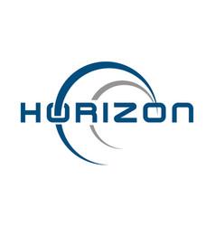 Logo horizon solutions vector