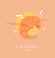 Famous french cuisine croissants vector