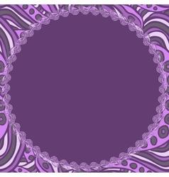 Round violet frame vector image