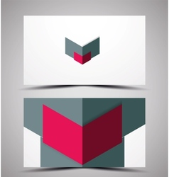 Cmyk business card design template vector