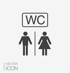 Restroom icons lady man vector
