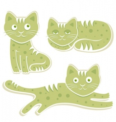 sweet cats vector image