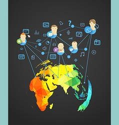 Abstract scheme of modern social network vector image