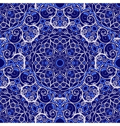 Seamless background of circular patterns navy vector