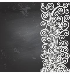 Black blank chalkboard vector image