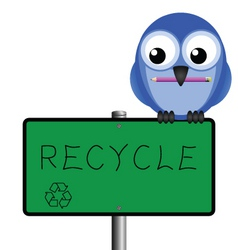 bird sign recycle vector image
