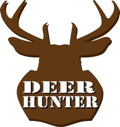 Deer Hunter vector image